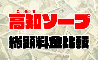 高知ソープの総額 | 1番安い激安店から高級店まで料金を徹底比較【2020年8月最新】