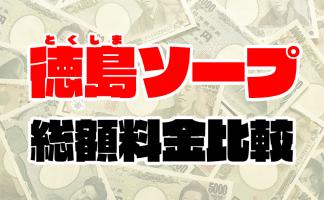 徳島ソープの総額 | 1番安い激安店から高級店まで料金を徹底比較【2020年8月最新】